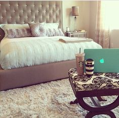 Adding print to a simple  classy bedroom