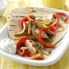 Chicken Fajitas Recipe Made this tonight, didn't read the recipe totally, I cut up the chicken first, marinaded it, then cooked it with the onions/peppers in a fry pan.  It was wonderful.  My new 'go to' recipe for fajitas.