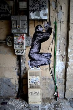 Paste up street art by French artist Levalet #levalet #france #pasteup…