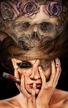 Nightmares by Brian Viveros and Dan Quintana, more art inspirations and skull designs at skullspiration.com