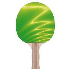 Green Lightning Ping Pong Paddle