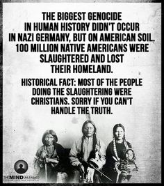 An examination of the genocide of the native american indian