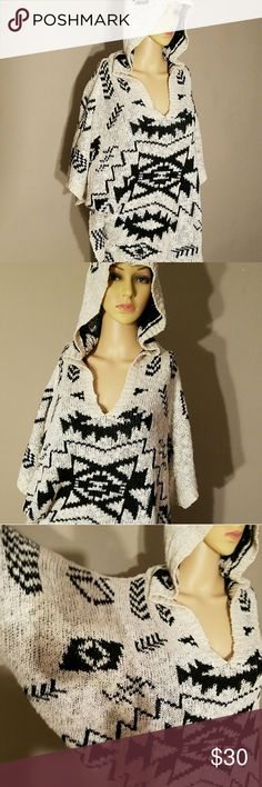 Hooded cape like sweater beach cover up. E/4 sleeves. Super soft. Forever 21 Tops Tunics