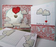 Mel Stampz: Red Hot Caardvarks Challenge (gift box/card set templates & tutorial)