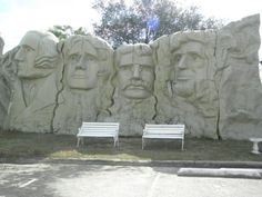 Clermont, FL -- Outside, you can take advantage of some pretty cool photo opportunities, with a smaller version of Mount Rushmore and the Statue of Liberty. In fact, the front of the museum features a miniature version Lincoln Memorial. Places In Florida, Visit Florida, Florida Vacation, Florida Travel, Florida Trips, Florida Tourism, Florida Camping, Florida Keys, Beach Travel