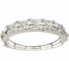 Bracelets | White Gold Diamond Bangle Bracelet