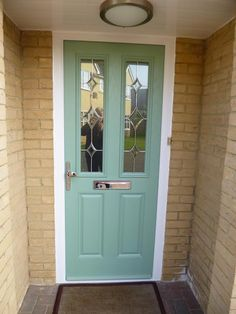 Chartwell green classic style composite front door.
