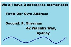 LOL so true! #Disney #Funny except maybe our own addresses are second...:)
