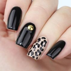 Top 25 Pretty Dark Gel Nail Art Designs Trendy - Fashonails The Effective Pictures We Offer You About rose gold nails A quality picture can tell you m Dark Gel Nails, Acrylic Nails, My Nails, Gel Nail Art Designs, Nails Design, Leopard Print Nails, Trendy Nail Art, Nagel Gel, Super Nails