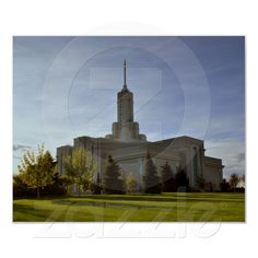 Mt. Timpanogos LDS Temple American Fork, Utah Print from Zazzle.com