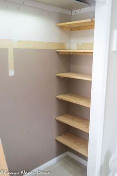 DIY fixed closet shelving Make the most out of a small closet, bedroom ideas, closet, organizing, painting, storage ideas