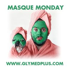 It's Masque Monday! Post your best Masque Monday pic to be featured on our social media. #maskmonday #masquemonday #glymedplus #mask #glymed #enzymemask