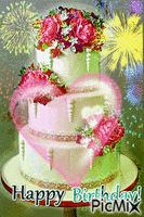 See the PicMix Happy Birthday Cake belonging to leahbelle on PicMix. Happy Birthday Quotes For Her, Birthday Cake Quotes, Happy Birthday Wishes Sister, Happy Birthday Animals, Birthday Cake Gif, Happy Birthday Rose, Happy Birthday Cake Images, Happy Birthday Wishes Images, Happy Birthday Greetings