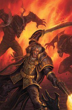 Warcraft Fan Art Gallery - Genn Greymane  Illustration de Glenn Rane