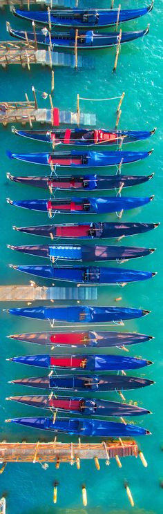 Stunning arial view of the gondolas in Venice. Search 'Venice' on Isango.com for the best tours and experiences to make your Venetian getaway unforgettable!