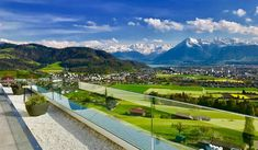 Unique view through the CREA glass railing system. Swiss Made.