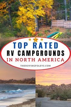What are the top ranked campgrounds in America? We have compiled a list of the best campsites in the USA to help you plan your RV travel destinations. We have included Texas rv parks, rv campgrounds in Michigan, Utah, California, Florida and many more. Finding nice campgrounds to stay at can be the hardest part of RV travel, but this list will help you to easily plan your next camping vacation. #rvtraveldestinations #rvcampgrounds #rvcampingtips Rv Camping Tips, Camping Essentials, Rv Travel, Travel Destinations, Texas Rv Parks, Best Campgrounds, Best Places To Camp, Campsite, North America