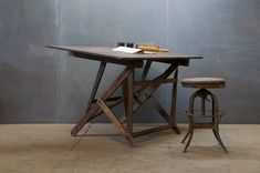 Architects Artists Drafting Drawing Table by Factory 20 Industrial Furniture, Home Furniture, Furniture Design, Antique Drafting Table, Drafting Tables, Drafting Desk, Drafting Drawing, Living Room Tv, Mid Century Modern Furniture
