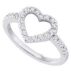 0.20 Carat (ctw) 10K White Gold Round White Diamond Ladies Heart Shaped Promise Ring 1/5 CT DazzlingRock Collection http://www.amazon.com/dp/B00E4W3NKY/ref=cm_sw_r_pi_dp_RzSVub0MDP56H