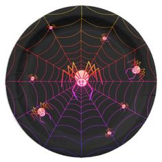#Pretty Pink Spider Halloween Paper Plate - #Halloween happy halloween #festival #party #holiday