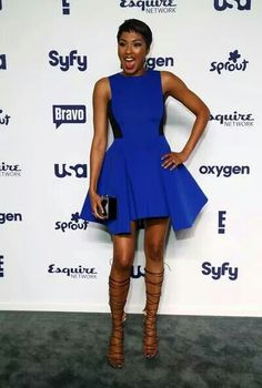 Alicia Quarles Strappy Sandals - Alicia Quarles stepped up the fierceness with a pair of black Alexa Wagner lace-up sandals. Look Whos Back, Kandi Burruss, Lace Up Sandals, Strappy Sandals, Dark Brown Eyes, Olive Skin, Something Blue, World Of Fashion, Style Guides