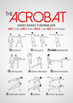 The Acrobat Workout. Robin workout.