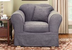 Sure Fit Slipcovers Suede Supreme Separate Seat - Chair