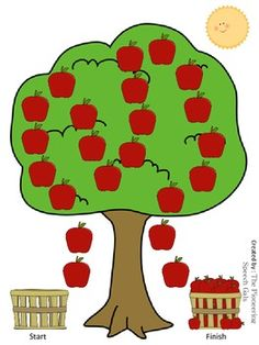 Here's a an open-ended Apple tree game board that you can use to create your own games.