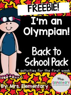 """Who's ready for the Olympic games??This freebie is from my  I'm An Olympian! Back to School Pack, just in time for the 2016 Rio Olympics! Get to know your students the first week of school while celebrating the Olympics!Included:-My Athlete Profile-""""If I Were in the Olympics"""" writing promptFor more Olympics resources, check out: I'm An Olympian!"""