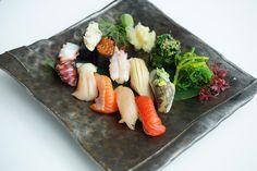 Nigiri Moriawase Fairmont Pacific Rim, Lobby Lounge, Raw Bars, Cocktails, Drinks, Sushi, Rolls, Menu, Fresh