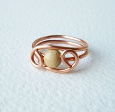 copper wire ring - Buscar con Google