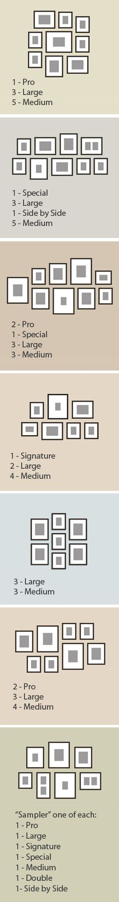 A handful of ideas for our instant #gallerywall frames. They come with their own hanging templates, so set up's a breeze. Best part: Everything's changeable, so you can update & switch out prints as often as you like. (5 second matting's pretty handy, too – click through to see the demo at the bottom of the home page.)