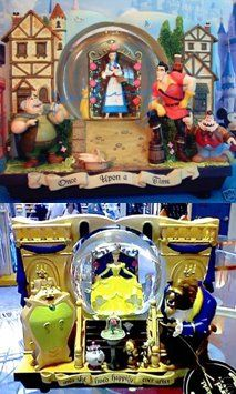 Disney Snowglobes Collectors Guide: Beauty and the Beast double sided Snowglobe