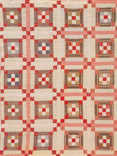 Triple Nine-Patch, 1900. Made by Ada Maria Walfield. Lunenburg Co, Nova Scotia, Canada.