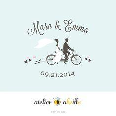 Premade Wedding Monogram  Wedding Logo  Wedding by atelierabeille