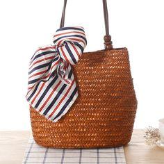 3 Color Women s Bag Beach Woven Bags For Summer Travel Womens Designer Shoulder  Bag Ladies Knitting Women straw bag Handbags f4dc5b5f6ac8f