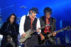 Johnny Depp toca com o Hollywood Vampires no Palco Mundo nesta quinta (24), quarto dia de Rock in Rio