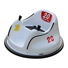 Zhousir DIY Race 6V Kids Toy Electric Ride On Bumper Car Vehicle Remote Control 360 Spin ASTM-Certified, White Red Ye... Flat Tire, Ride On Toys, Electric Cars, Pink White, Red And White, Yellow, Toys For Boys, Kids Toys, Spinning