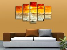 5 Panel(s) Split High quality canvas print on artist canvas. It is nicely creation of Landscape in Contemporary style. This piece is great for interior home or office decor and it's absolutely stunning and would give great ambiance anywhere it is hung.
