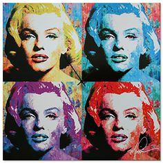 Special Offers - Pop Art Clock Marilyn Monroe Clock  Pop Culture Decor  Vibrant Multicolor Abstract Urban Wall Clock  Colorful Glossy Metal Wall Clock - In stock