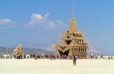 the-temple-of-joy-burning-man-2002 - 15 Years of Burning Man Temples The Temple represents the most spiritual and solemn side of the Burning Man. If you're going this year, make sure you bring something to it and that you attend the ritual burning. See more photos at http://aburningdream.com/burning-man-temples/
