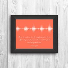 **Use the code 15off to recieve 15% off your purchase**  **Please be aware that this is NOT a physical item. It will be sent to you via email provided through Etsy. You can request it to be sent elsewhere, let me know in the note to seller section**  This one of a kind sound wave art gives you the chance to remember what it felt like the first time you heard your babys heartbeat. Not only can this be made with your babys heartbeat, but you can capture any phrase from I love you to I do…
