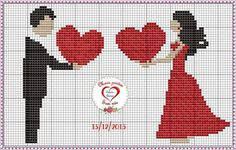 Name: Displayed times: 1163 Size: KB (Kilobyte) Xmas Cross Stitch, Cross Stitch Heart, Cross Stitch Kits, Cross Stitch Designs, Cross Stitching, Cross Stitch Embroidery, Embroidery Patterns, Pixel Art, Cross Stitch Silhouette