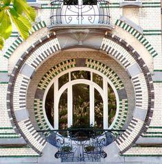 Art Nouveau window in Brussels