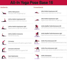All-in Yoga pose base page 16