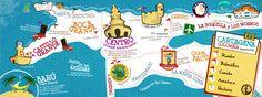 They Draw and Travel  Mi mapa de Cartagena Ganso Ciego Style