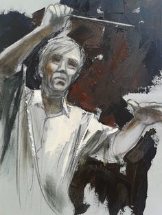 Conductor by Alida Bothma Oil on Canvas Conductors, Classical Music, Oil On Canvas, The Incredibles, Orchestra, Acrylics, Gallery, Artist, Art Ideas