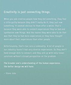 Steve Jobs on creativity and design