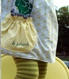 Tutorial: Child's apron with gathered pocket · Sewing | CraftGossip.com