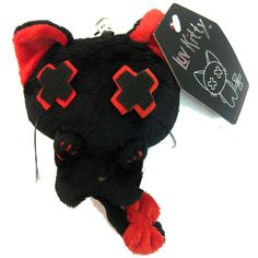 Luv Kitty Key Chain Doll Red | Gothic Clothing | Emo clothing |... ($5.75) ❤ liked on Polyvore featuring stuffed animals, plushies, accessories, dolls and animals